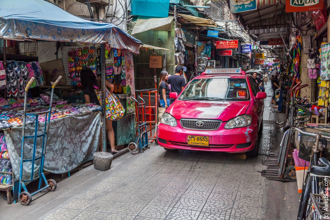 Бангкок такси на улице