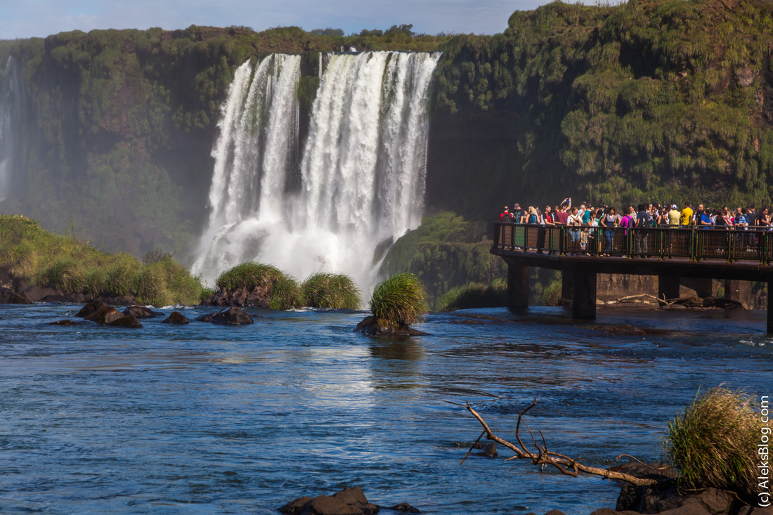 Бразилия водопады Игуасу