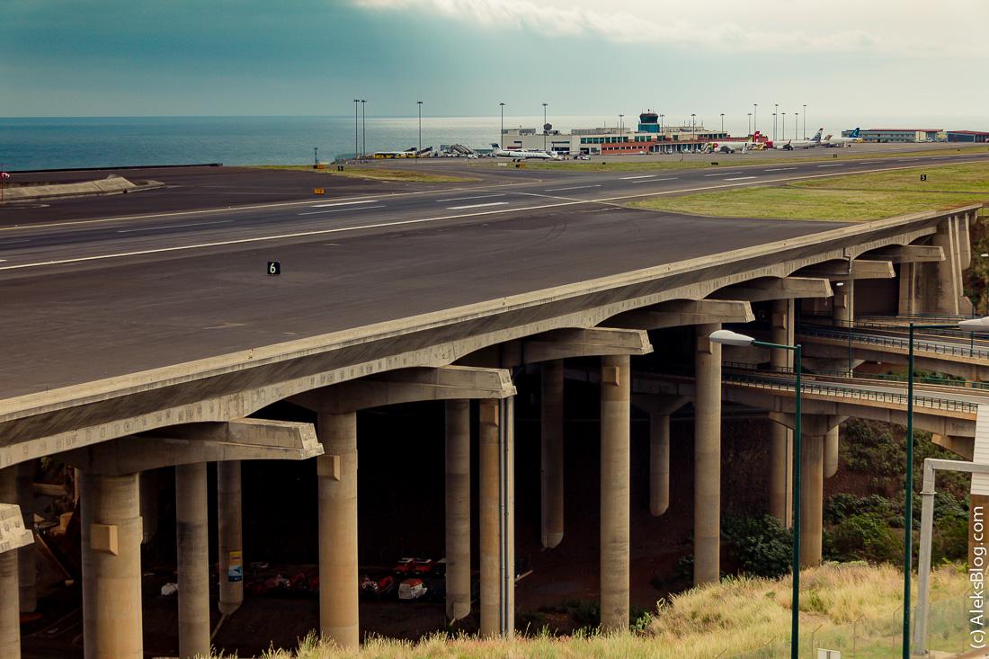 Аэропорт Мадейра взлетно-посадочная полоса