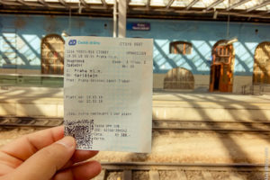 Билет на поезд в Праге