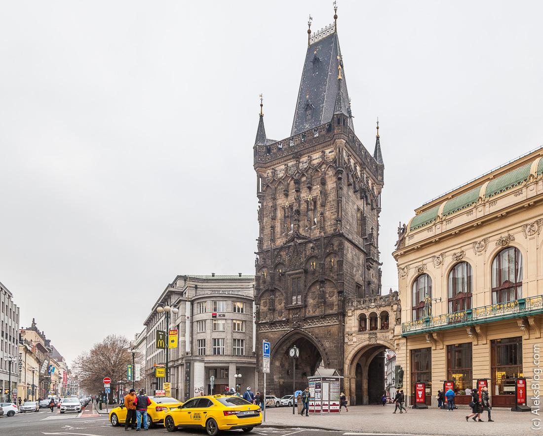 Прага Пороховая башня
