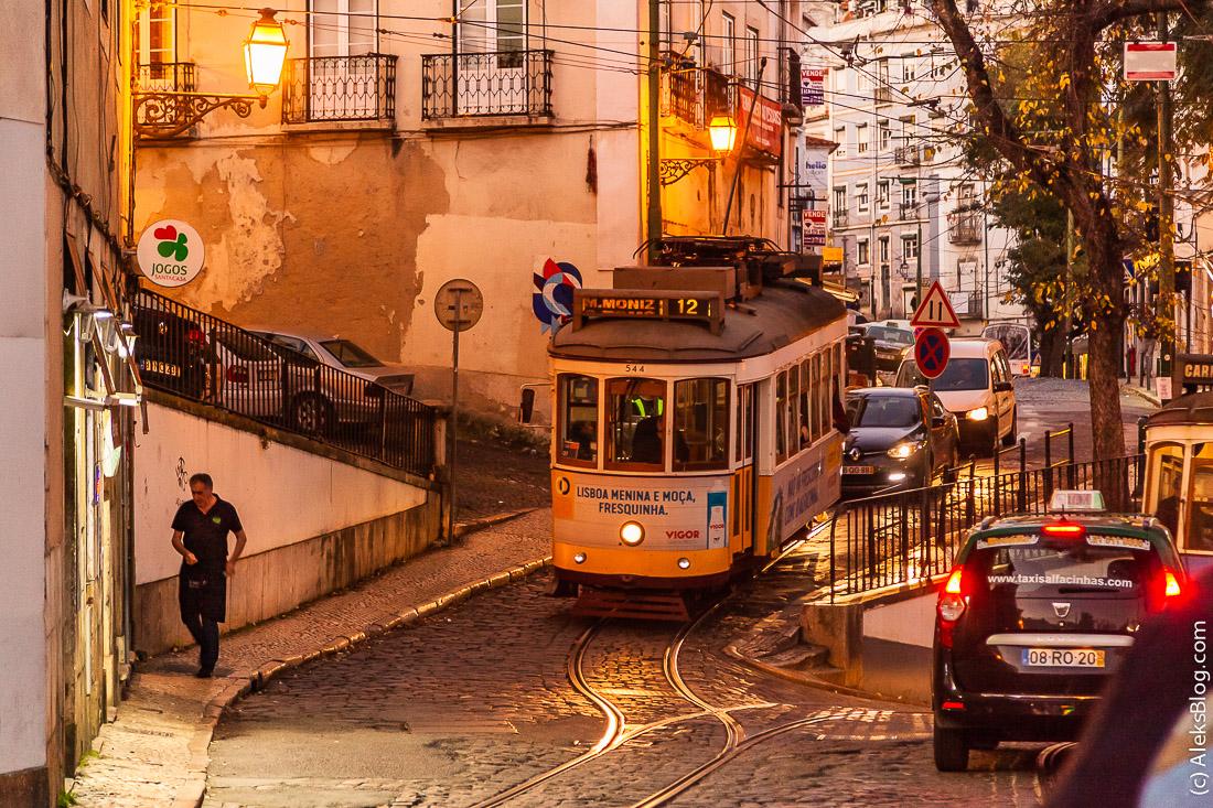 Лиссабон трамваи