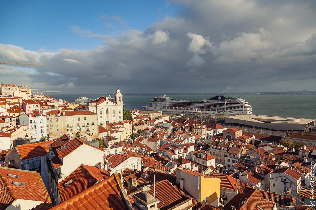 Лиссабон смотровая площадка Санта Лузия