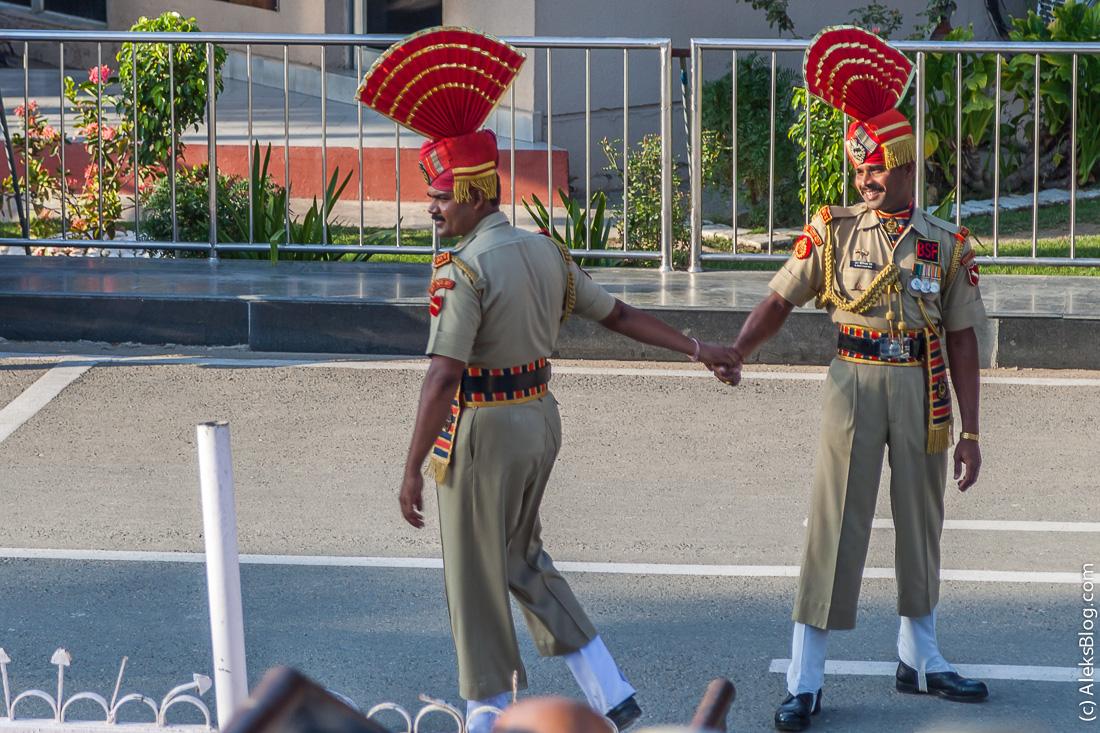 граница между Индией и Пакистаном шоу