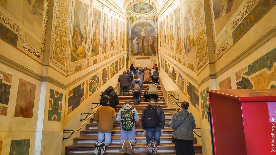 Святая лестница Рим