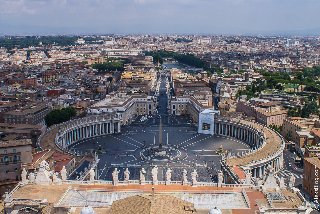 Ватикан вид с купола собора