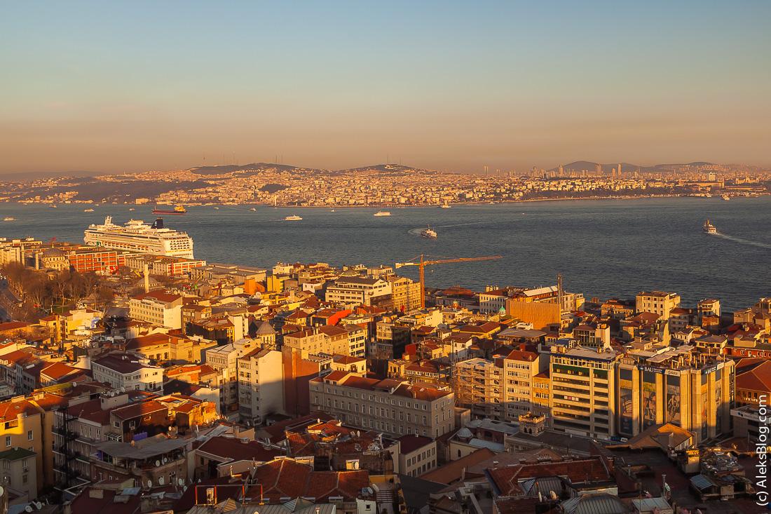 Стамбул вид с Галатской башни