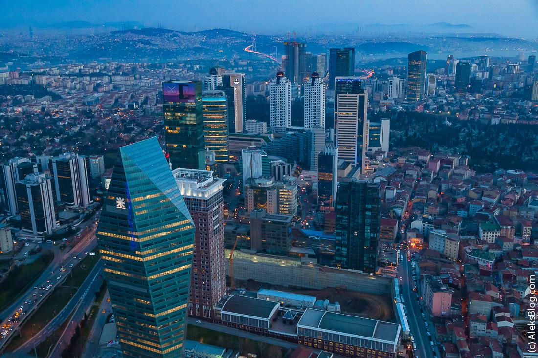 Стамбул вид с башни Сапфир
