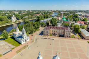 Вологда вид со смотровой площадки колокольни