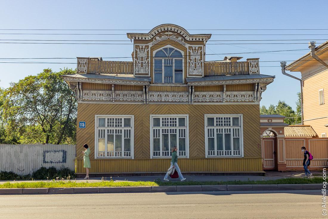 Вологда цветные дома